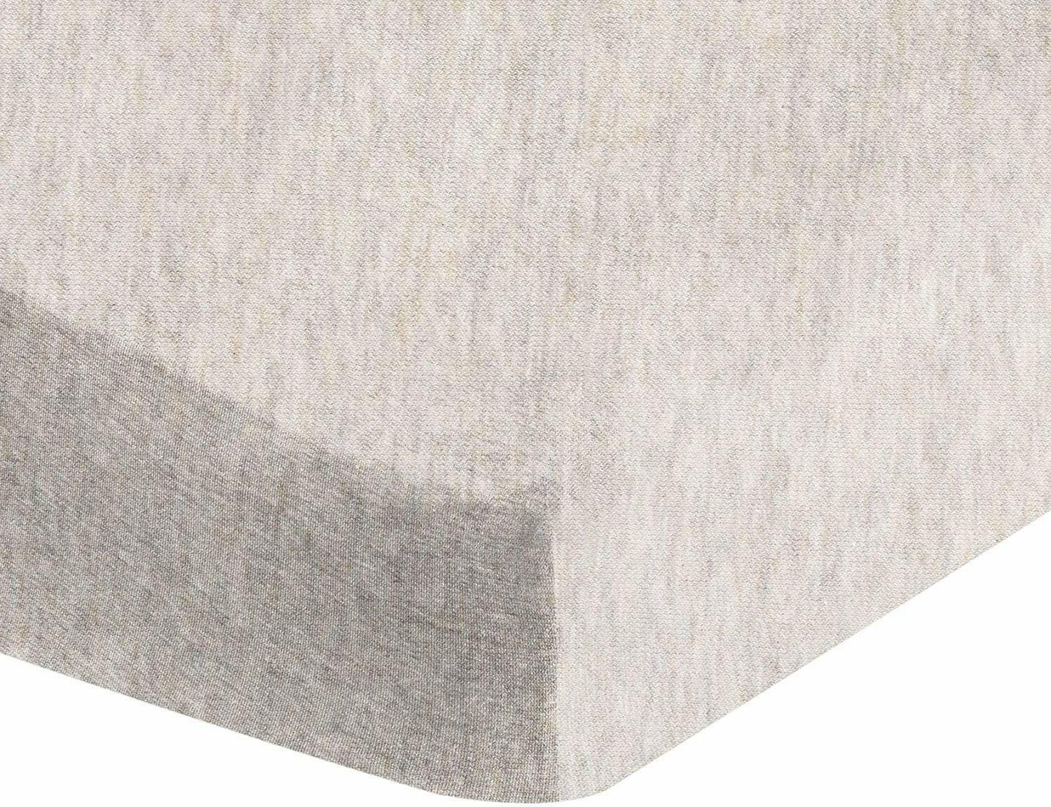 heather jersey fitted crib sheet bedding chambray