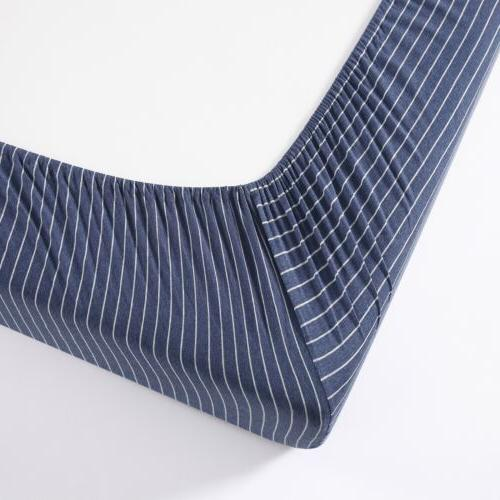 Chezmoi Collection Knit Cotton Deep Pocket Bottom Sheet