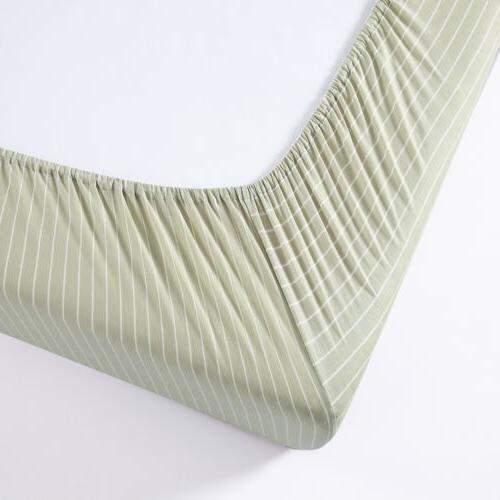 Chezmoi Collection Knit Cotton Pocket Bottom Sheet