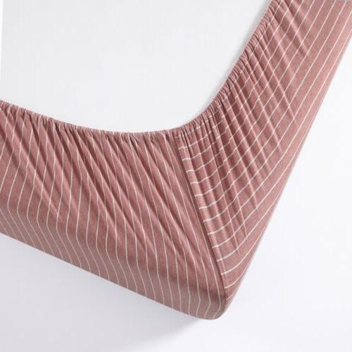 Chezmoi Collection Heather Jersey Knit Cotton Deep Bottom