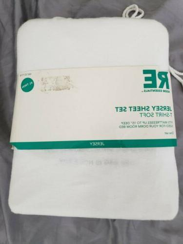 jersey sheet set xl twin 100 percent