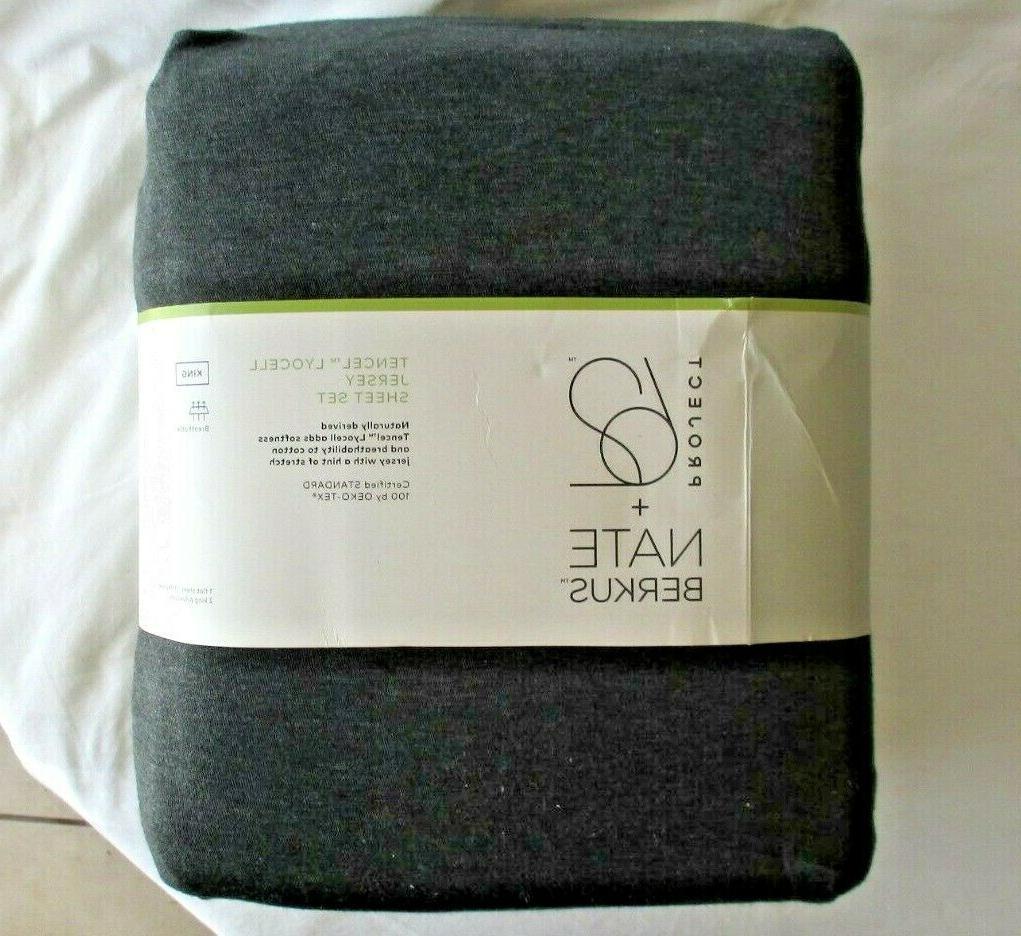king jersey sheet set cotton tencel lyocell