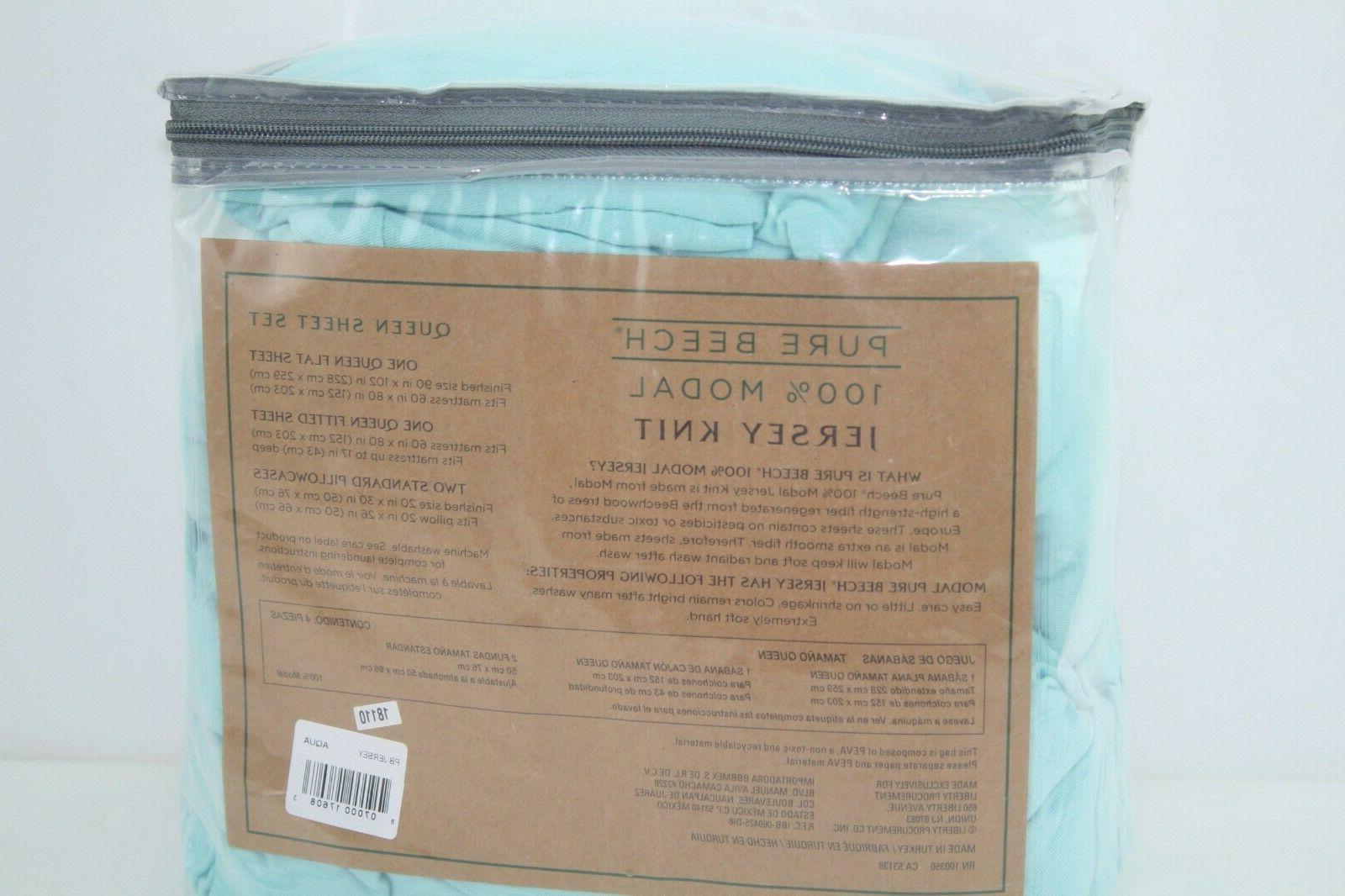 Modal Jersey Sheet Set New Open Packaging