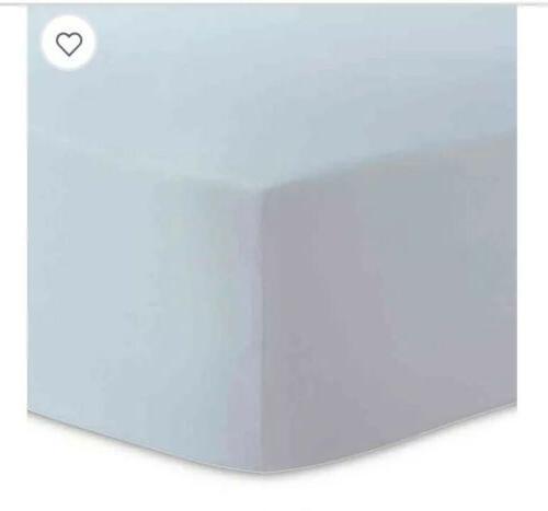 organic cotton jersey fitted crib sheet blue