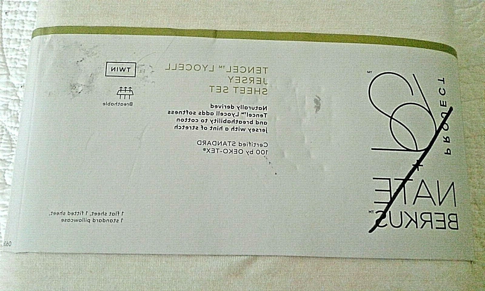 PROJECT NATE BERKUS TWIN BEIGE JERSEY SHEET --