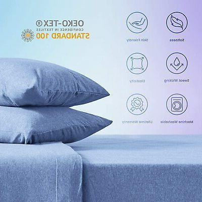 SLEEP ZONE Jersey Cotton Sheets Ultra Breathable