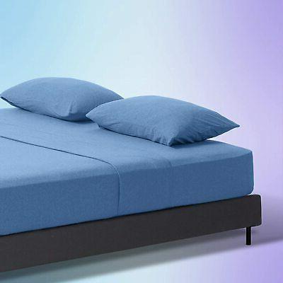 sleep zone jersey knit cotton sheets ultra
