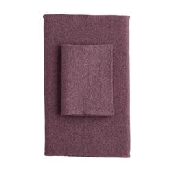 Logan Jersey Cotton Blend Full Flat Sheet in Berry