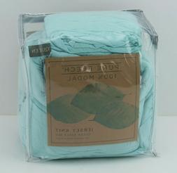 Modal Beech Pure Beech Jersey Knit Queen Sheet Set In Aqua -