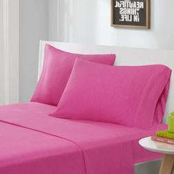 Modern Hot Pink Cotton Blend Jersey Knit Sheet Set - ALL SIZ