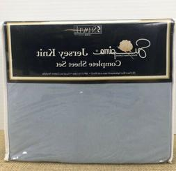 New! Shavel Jersey Knit Complete Sheet Set Supima Queen Size