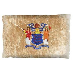 New Jersey Vintage Distressed State Flag Pillow Case