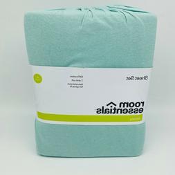 NEW Sheet Set Room Essentials Jersey Sheet Set AQUA BLUE Twi