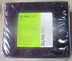 NIP Mervyns Dark Purple Jersey Knit Twin XL Sheet Set