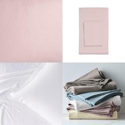 Organic Cotton Jersey Knit Twilight Solid Twin Flat Sheet