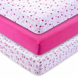 Pack of 3 Fitted Mattress Crib Sheets Heavenly Soft Cotton f