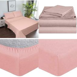 Enviohome Quality Knit 100% Cotton Jersey Bed Sheet Set - 3