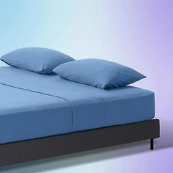 SLEEP ZONE Jersey Knit Cotton Sheets Ultra Soft Breathable H