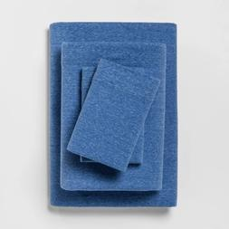 Room Essentials Solid Jersey Sheet Set, King Size, Blue