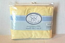 Koala Baby Solid Sun Yellow 100% Cotton Jersey Knit Fitted B