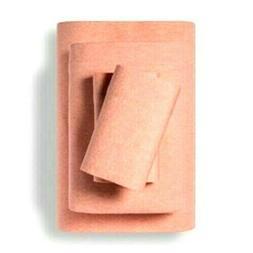 Twin Jersey Blend Sheet Set Dark Peach 70%cotton 30%tencel L