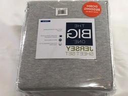 The Big One XL Twin Jersey Sheet Set - Light Gray