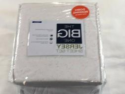 The Big One XL Twin Jersey Sheet Set - White Knepps